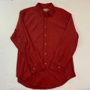 Men's Scully Western Metal Button Shirt M
